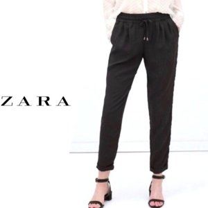 Zara High-waisted Tapered Ankle Trousers XS